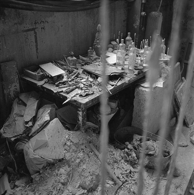 The Studio of Alberto Giacometti, 1958.