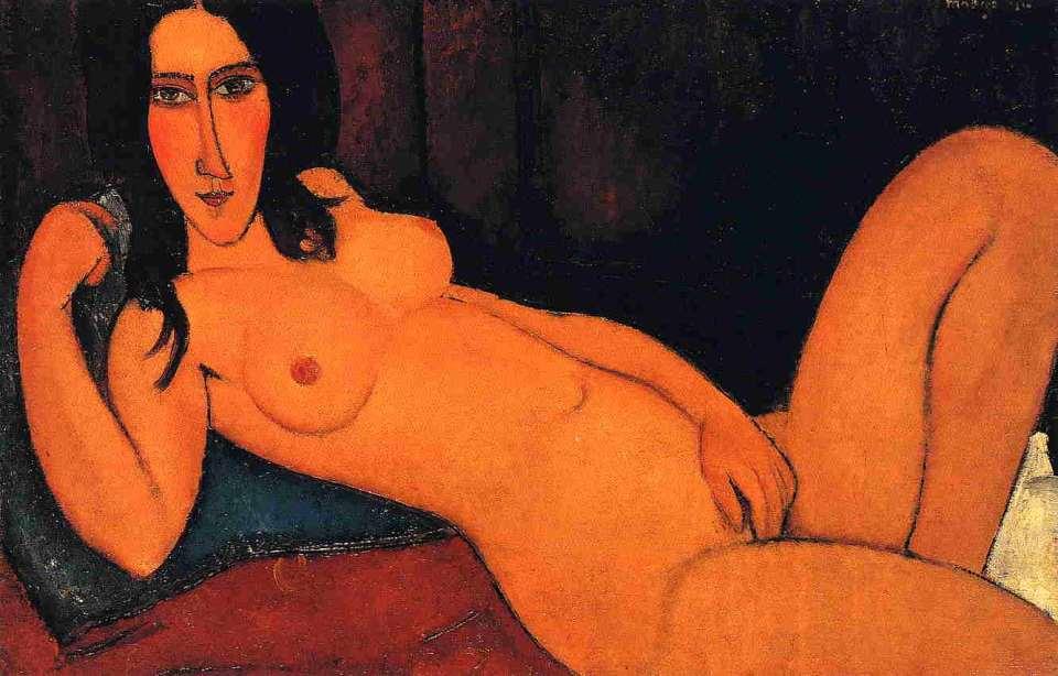 Amedeo Modigliani. Nude, 1917.