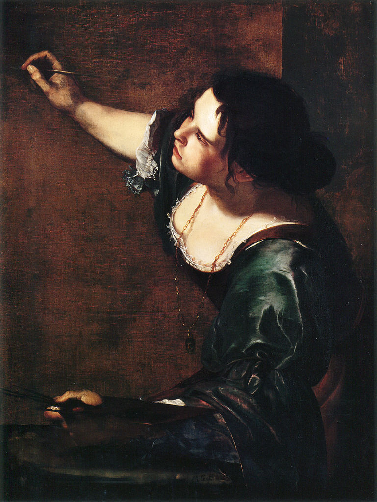 Artemisia Gentileschi. Self Portrait as an Allegory of Painting, 1638-9.