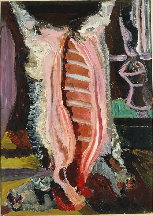 Bruno Cassinari. Butchered Ox, 1941.