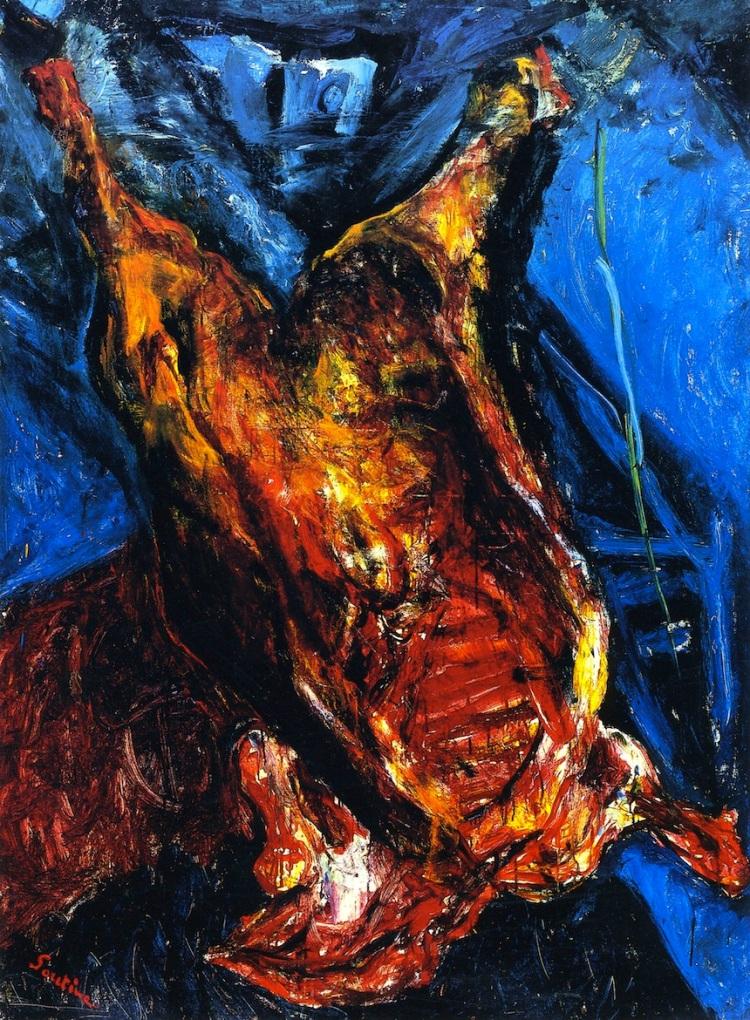 Chaim Soutine. Carcass of Beef, 1925.