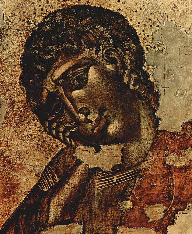 Cimabue. Crucifixion (detail), 1280.