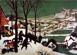 Pieter Bruegel.The Hunters in the Snow, 1565.