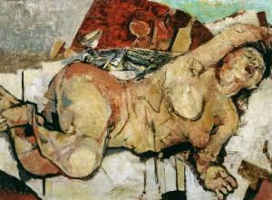 Awakening circa 1948 by Fausto Pirandello 1899-1975