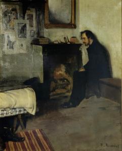 Santiago Rasinol. Painting of Erik Satie, 1891.