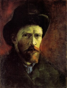 Vincent Van Gogh. Portrait with Dark Felt Hat, 1886.