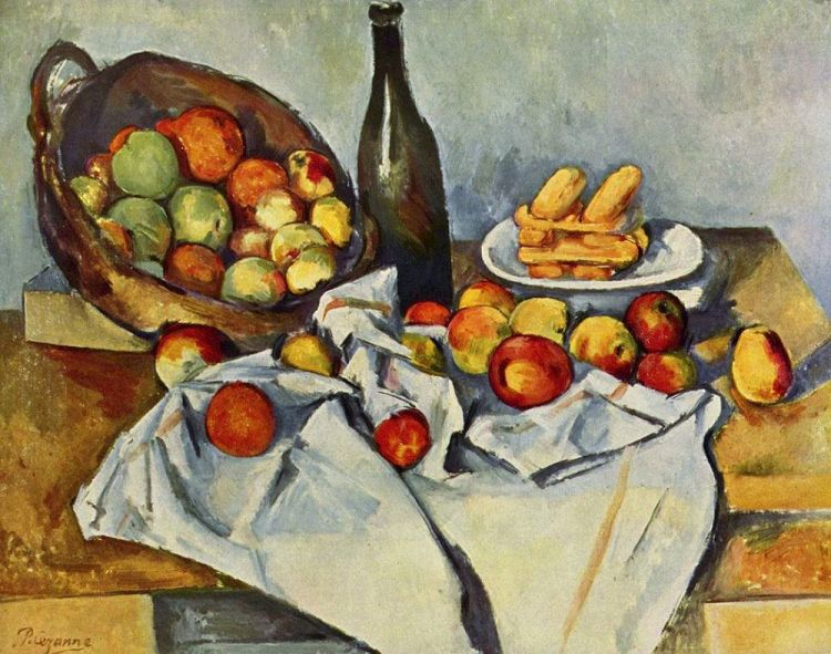 Paul Cezanne. Still Life with Basket of Apples, 1895.