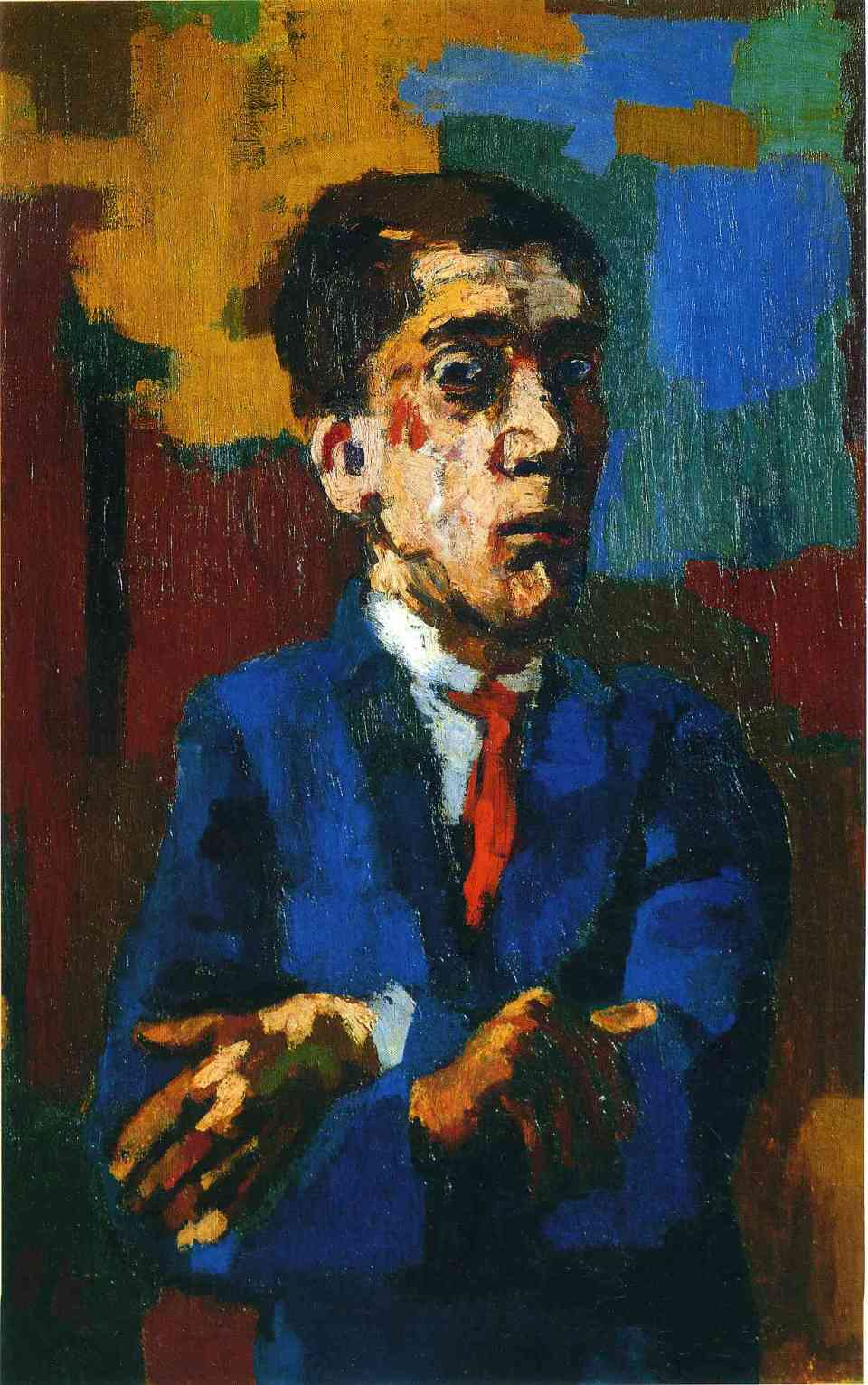 oskar-kokoschka-self-portrait-with-arms-folded-1923