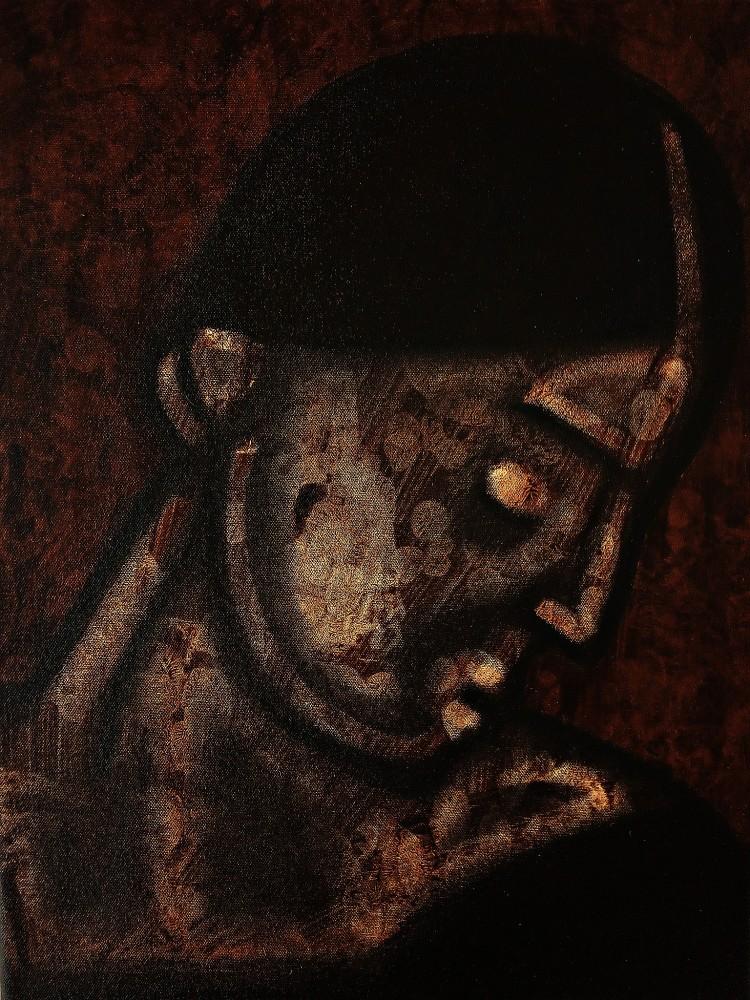 Portrait After Caravggio. April 2020.